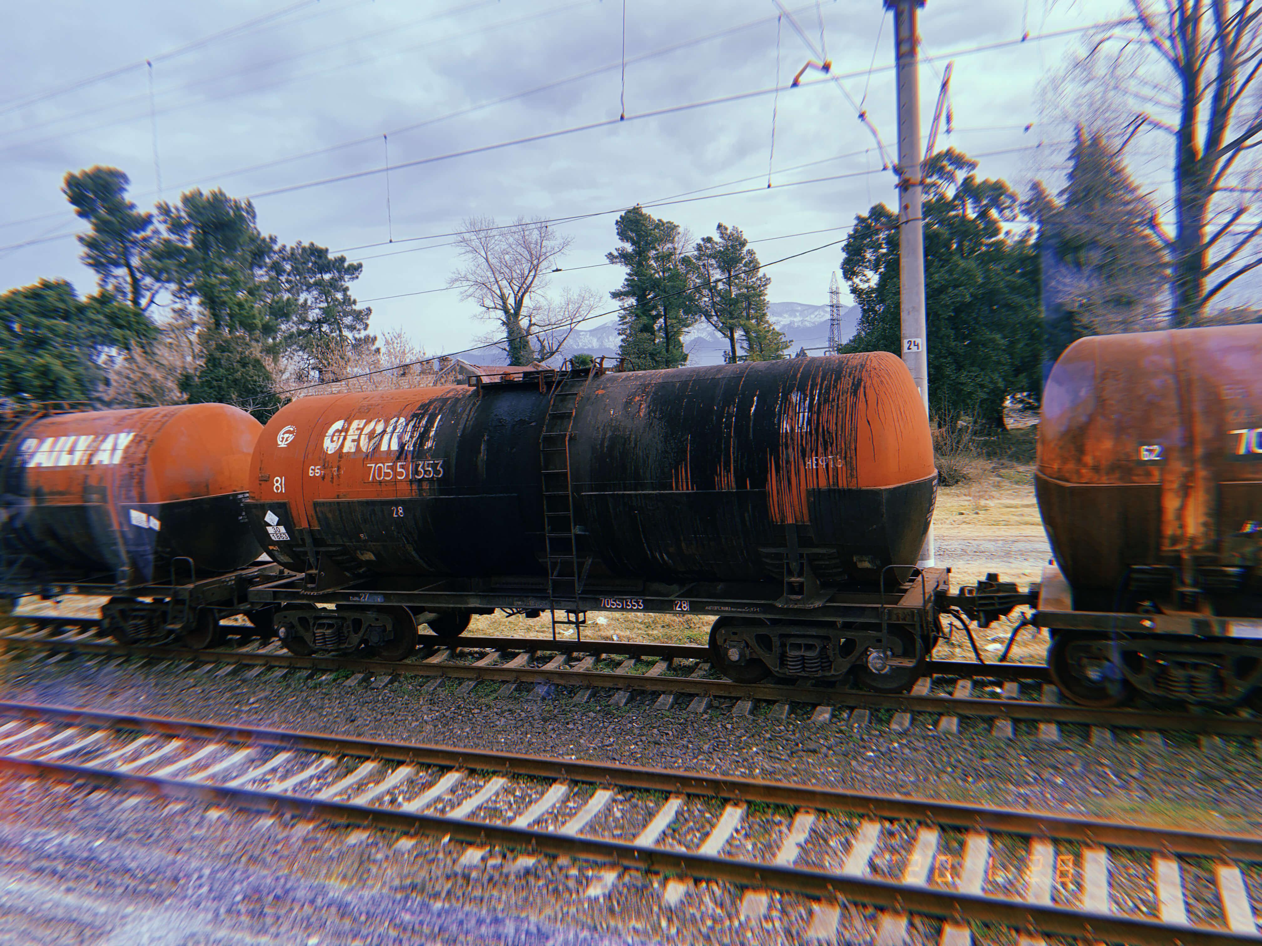 ジョージアの鉄道からの眺め